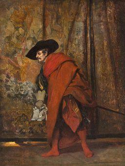 Poloniusz namalowany pędzlem Jehana Georgesa Viberta (źródło: domena publiczna).