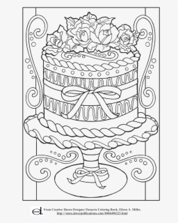 Cake Pic For Coloring Free Transparent Clipart Clipartkey