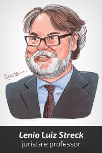 Resultado de imagem para caricatura do jurista lenio streck
