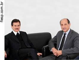 Cezar Peluso e Paulo Skaf - FIESP
