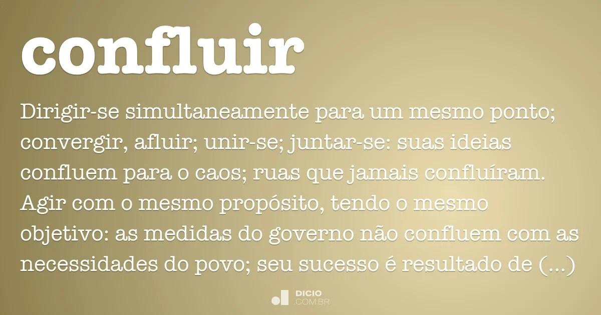 Português (portugal) · english (united kingdom). Confluir - Dicio, Dicionário Online de Português