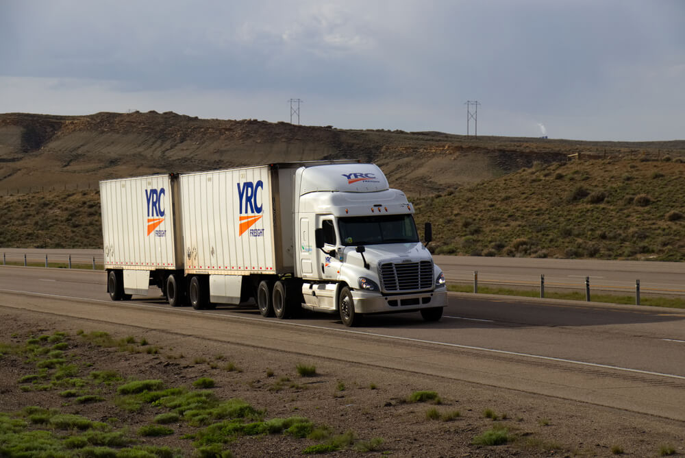 truck with double trailers