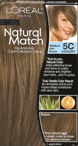 LOreal Natural Match Hair Color 5C 5 C Medium Ash Brown