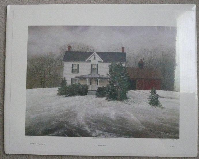David Knowlton Sn Print Grandmas House