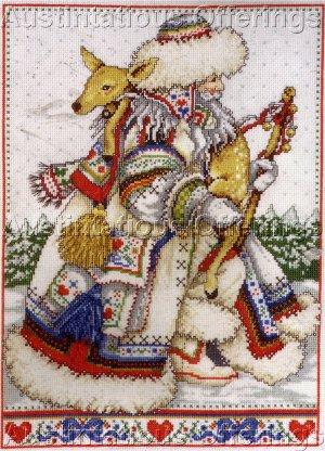 RARE ANNE YVONNE GILBERT NORDIC FATHER CHRISTMAS CROSS