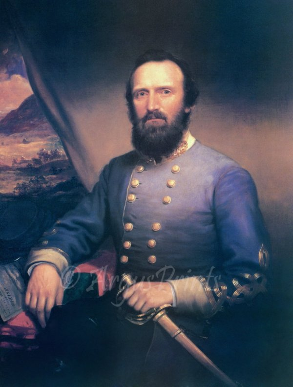 General Thomas Stonewall Jackson Civil War canvas art