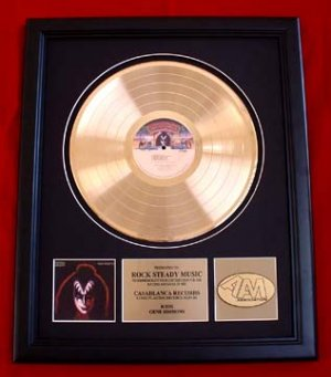 GENE SIMMONS KISS SOLO GOLD RECORD AWARD