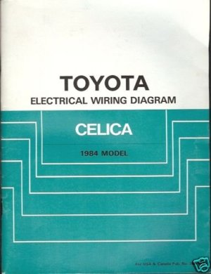 TOYOTA ELECTRICAL WIRING DIAGRAM CELICA 1984 MODEL
