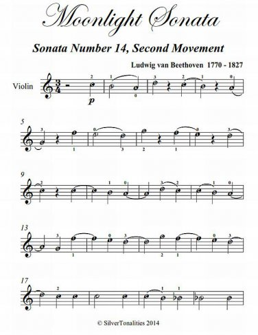 Moonlight Sonata Second Movement Easy