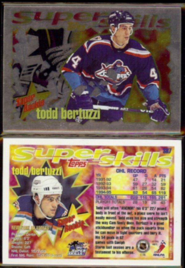 TODD BERTUZZI (2) 1995 Topps Super Skills Rookie Insert # ...