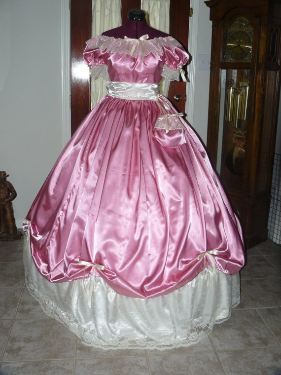 Civil War Ball Gown Reenacting Dickens Victorian Dress