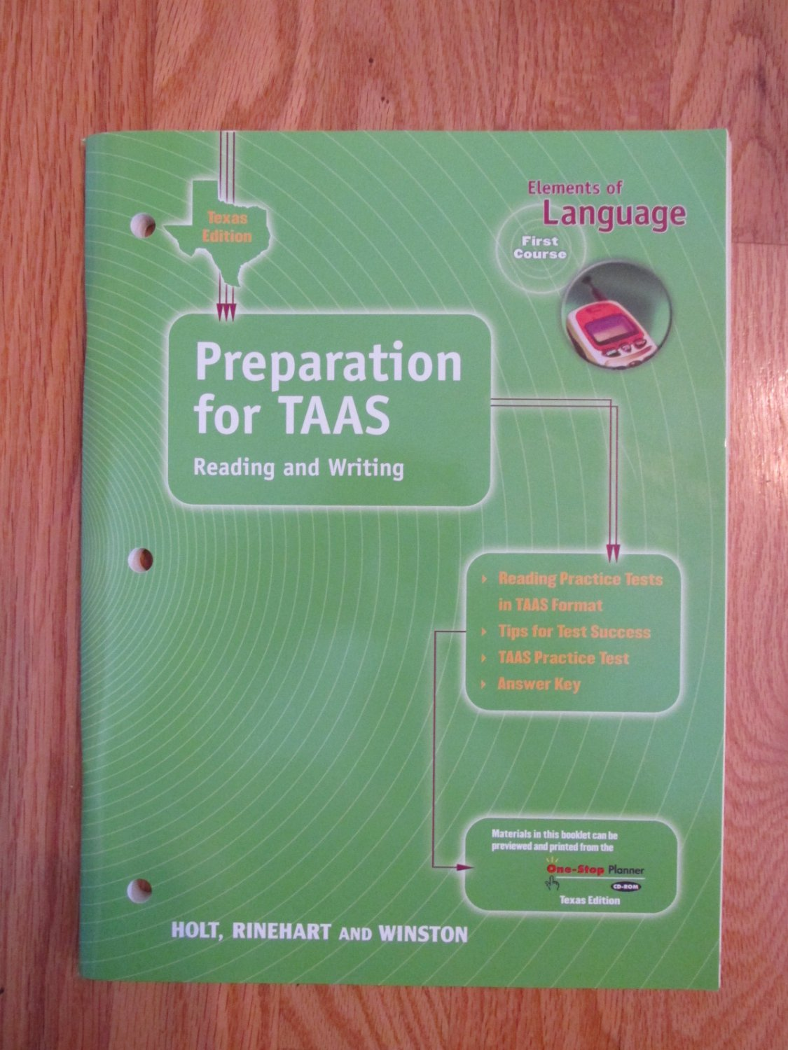 Elements Of Language First Course 7th Grade Tass Prep
