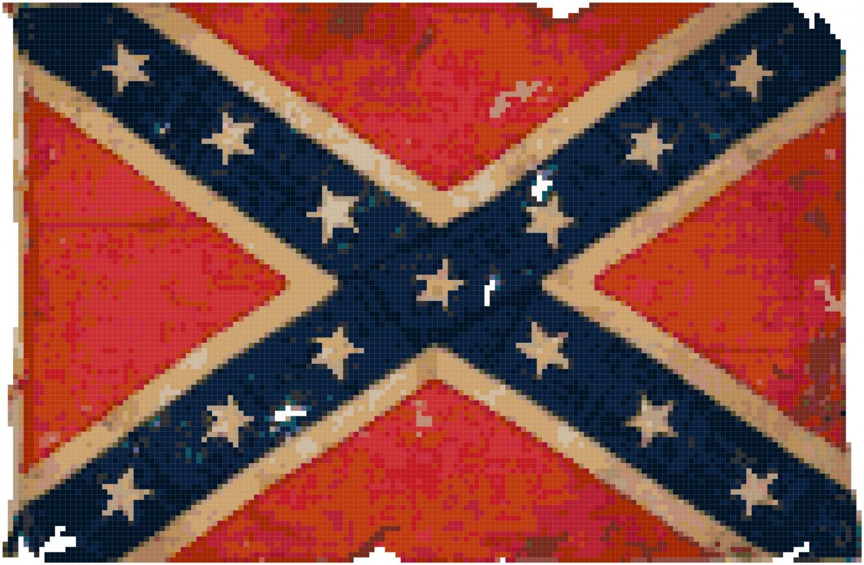 Civil War Confederate Battle Flag Cross Stitch Pattern