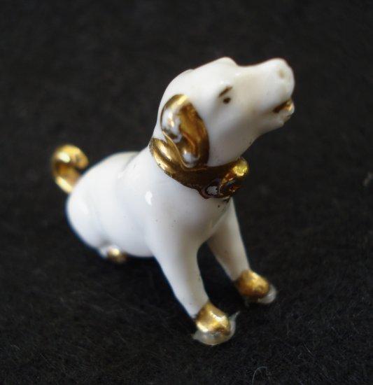 Antique Miniature Dog Figurine Like RCA Nipper China With