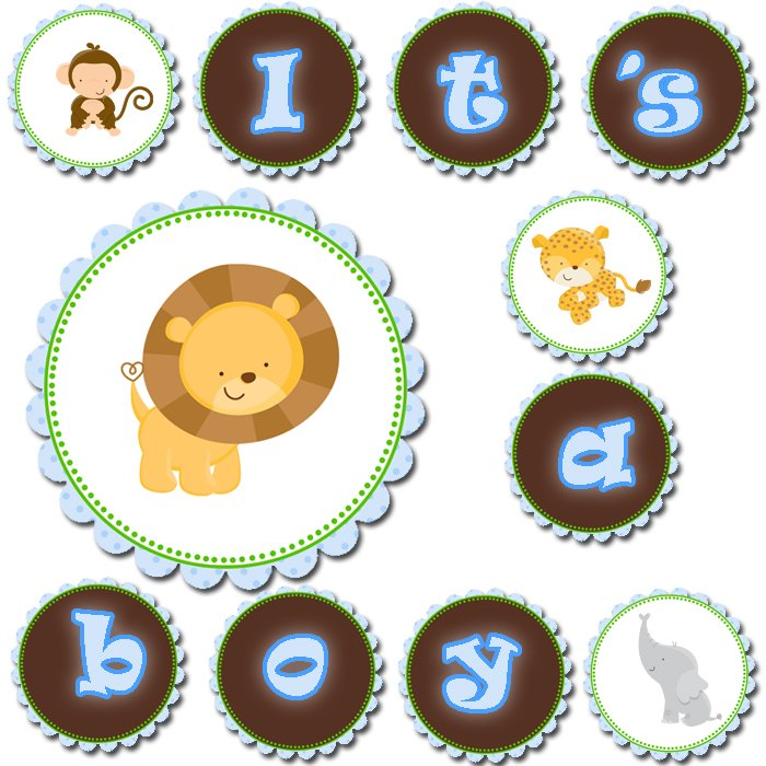 Safari Boy Baby Shower Invitations