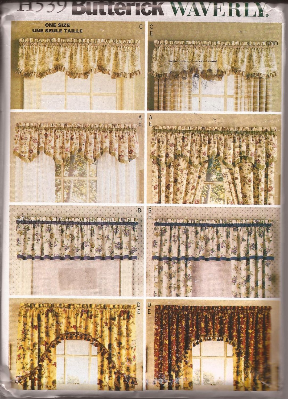 Butterick H539 Waverly Valances D S Curtain