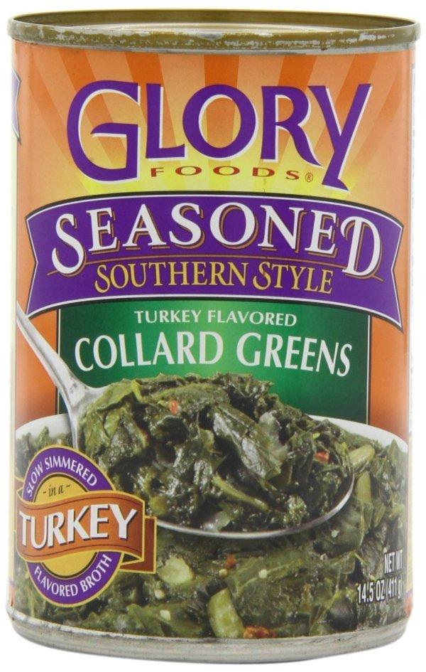 Glory Foods Seasoned Collard Greens in Turkey Broth 14