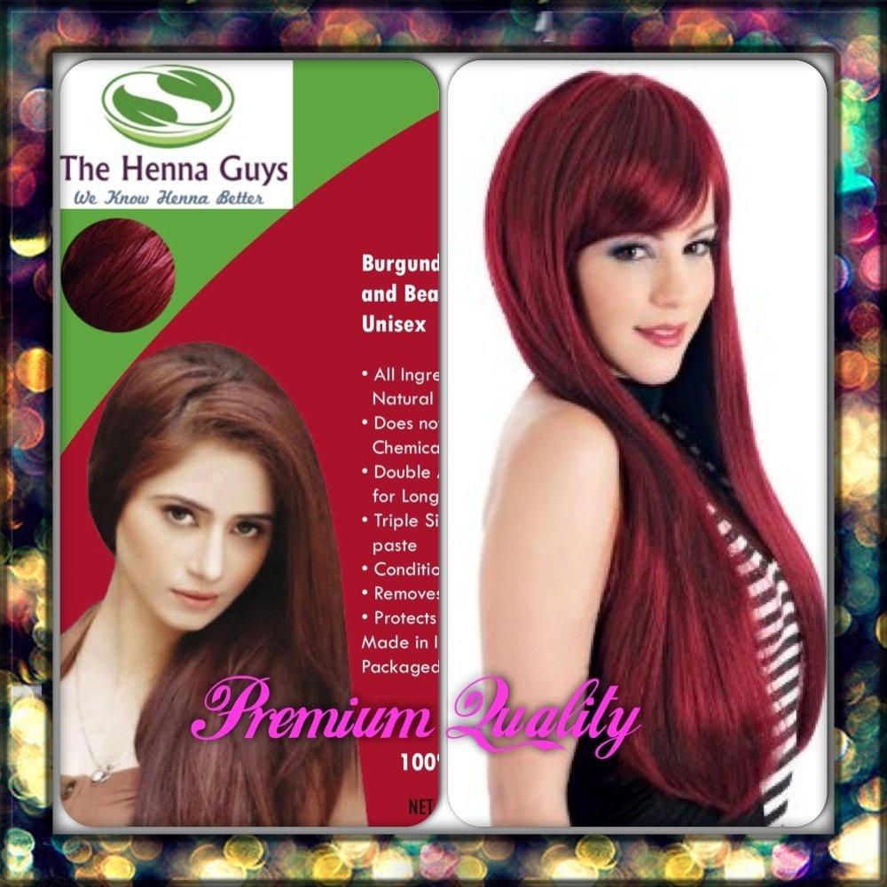 BURGUNDY HENNA HAIR DYECOLOR ORGANIC Amp 100 CHEMICAL FREE