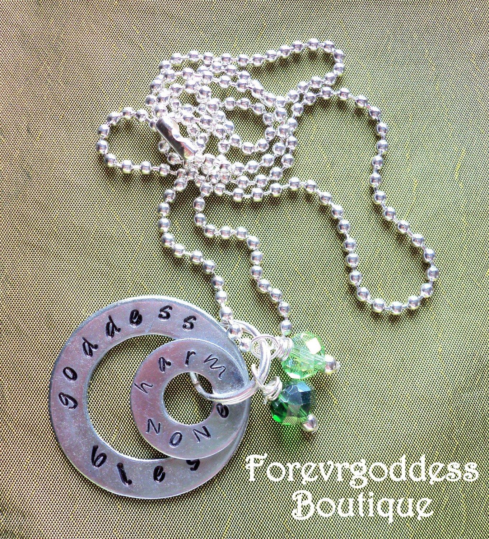 Goddess Bless Harm None Necklace
