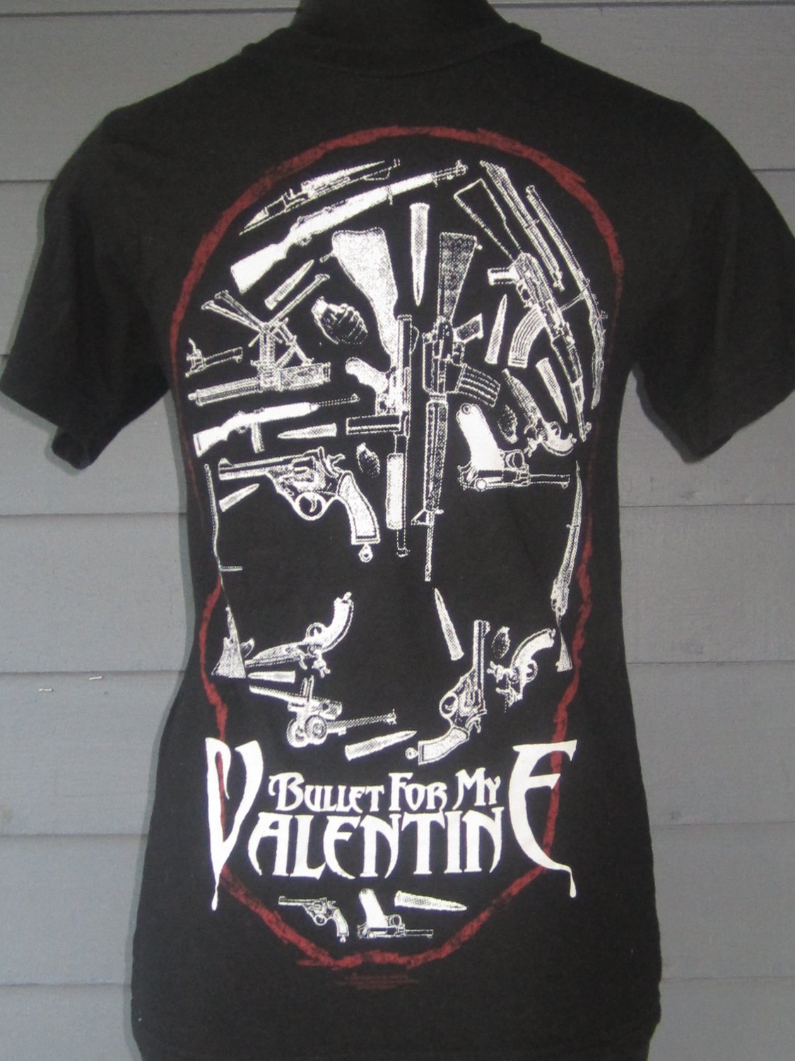 Bullet For My Valentine Slim Fit Skull Band T Shirt Metal