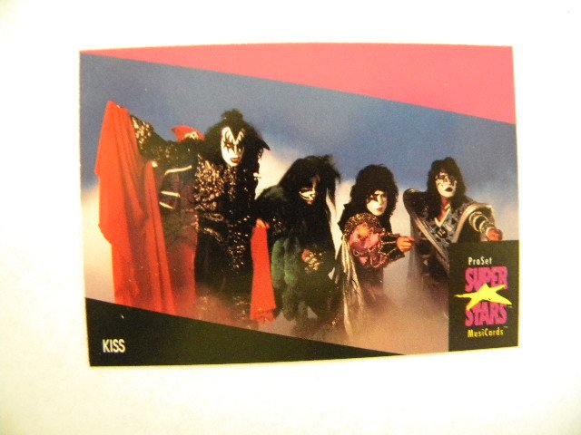 Pro Set Super Stars Musicards Series II - Individual Trading Card - Kiss - from Rainbow Wall the on-line store for unique gifts, vintage collectibles and exotic home decorations