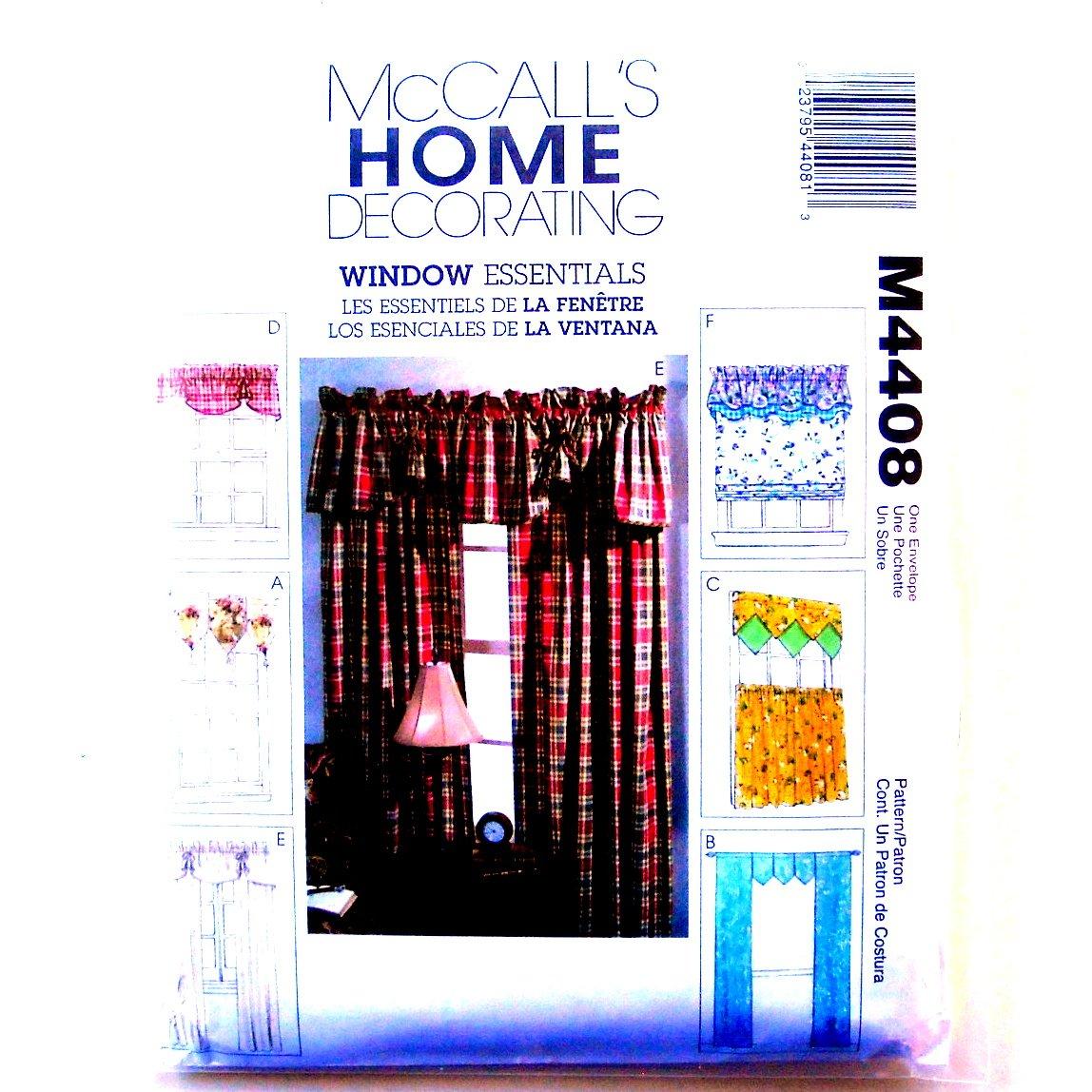 Window Valances Curtain Panels Home Decorating Mccalls
