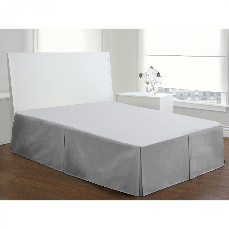 Velvet Bed Skirt Queen Size 18 Drop Box Pleated Sheen