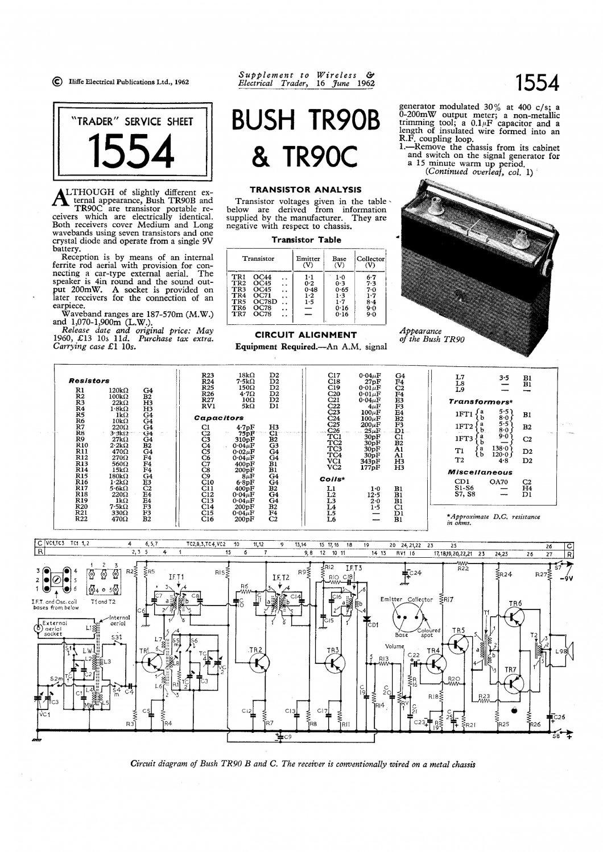 Bush Tr90b Vintage Wireless Service Schematics Download