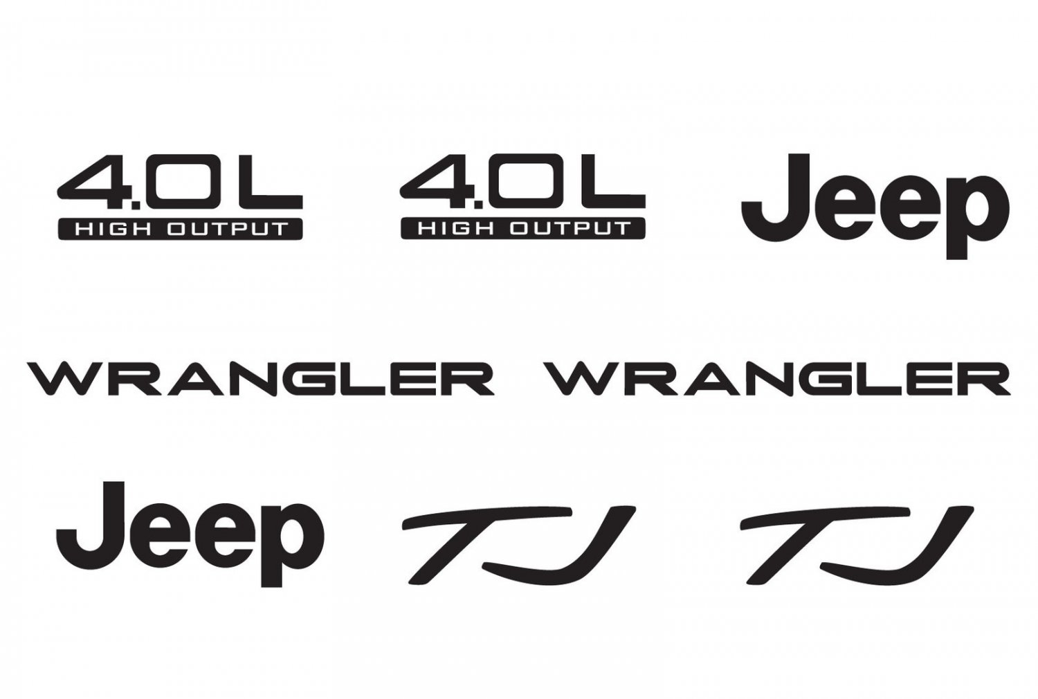 Jeep Wrangler Tj 4 0l 4 0 L Refresh Vinyl Decal Set