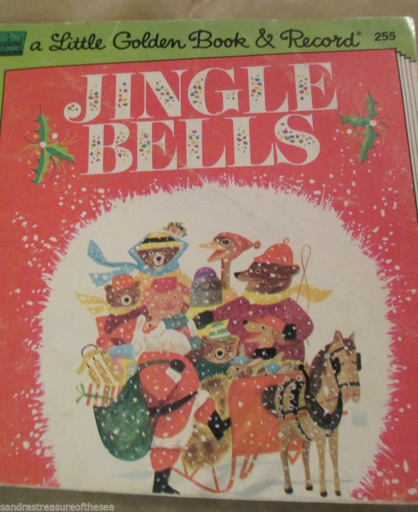 Vintage Jingle Bells 255 Disney Little Golden Read Along ...