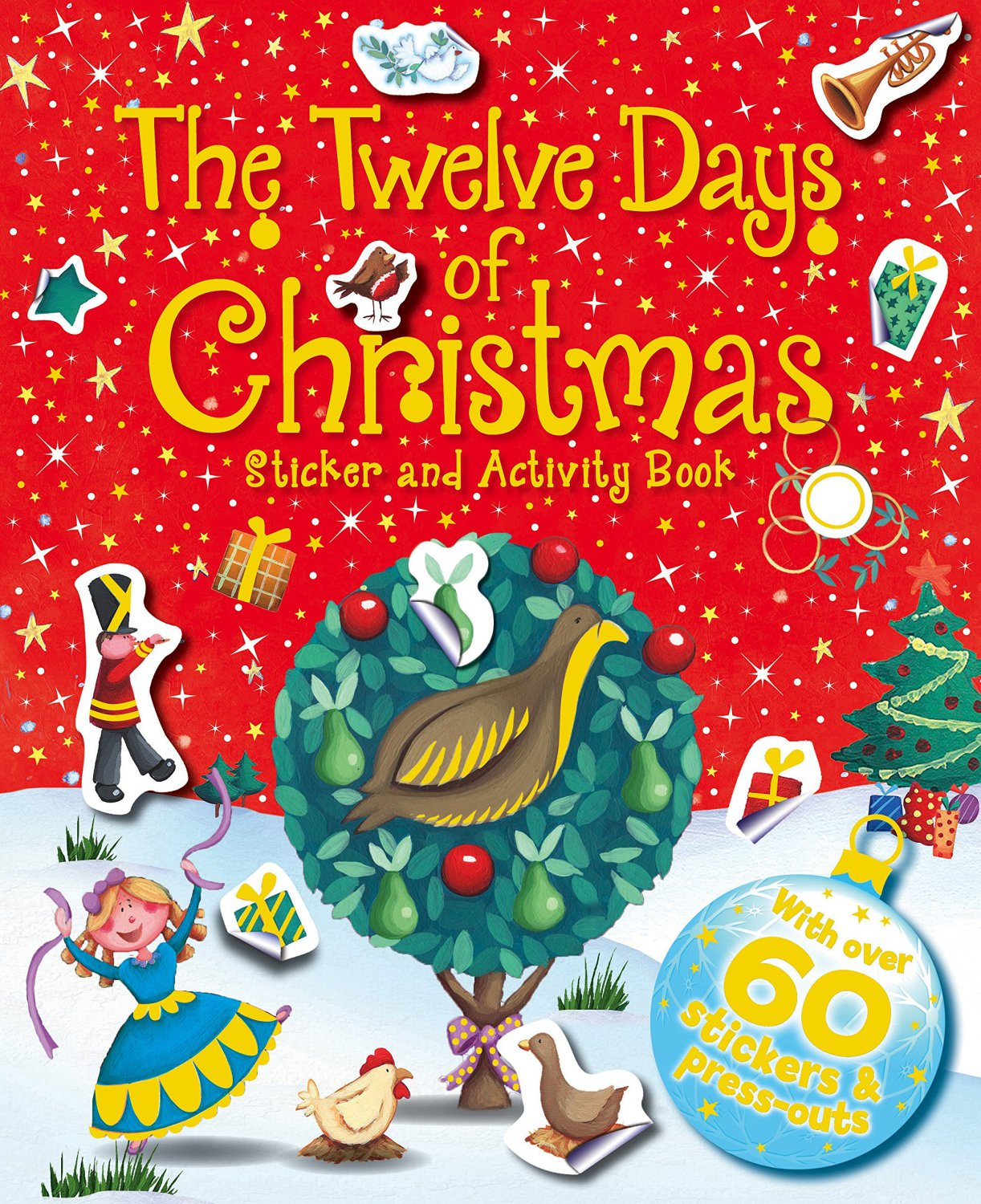 Xmas Activity 12 Days Of Christmas Sticker And Activity Book
