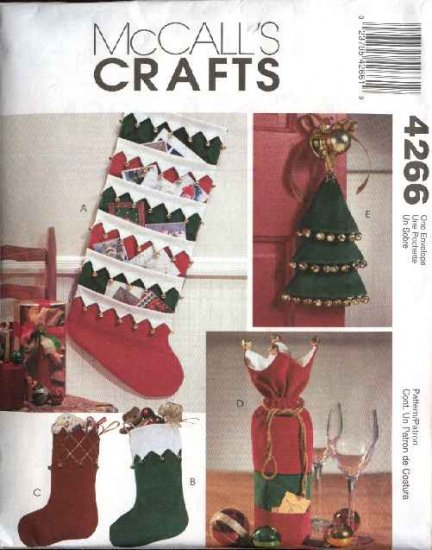 McCalls Sewing Pattern 4266 Christmas Stockings Card