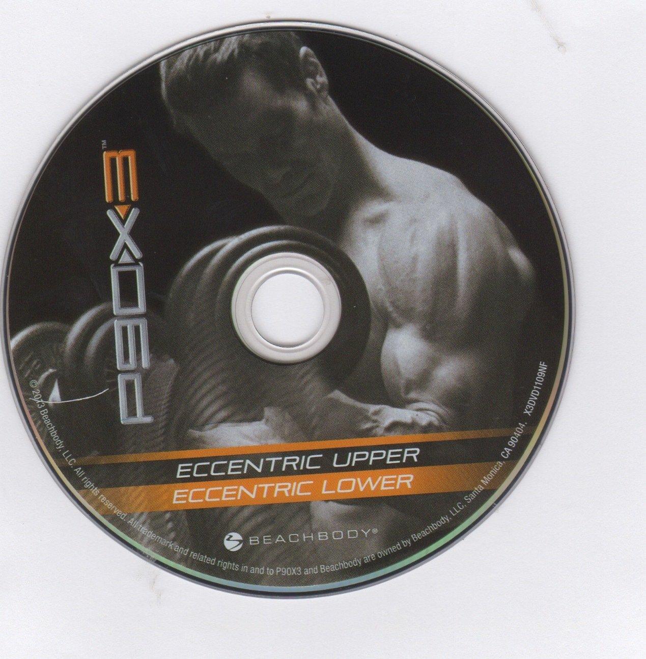 P90x3 Eccentric Upper Amp Eccentric Lower Replacement Disc Dvd