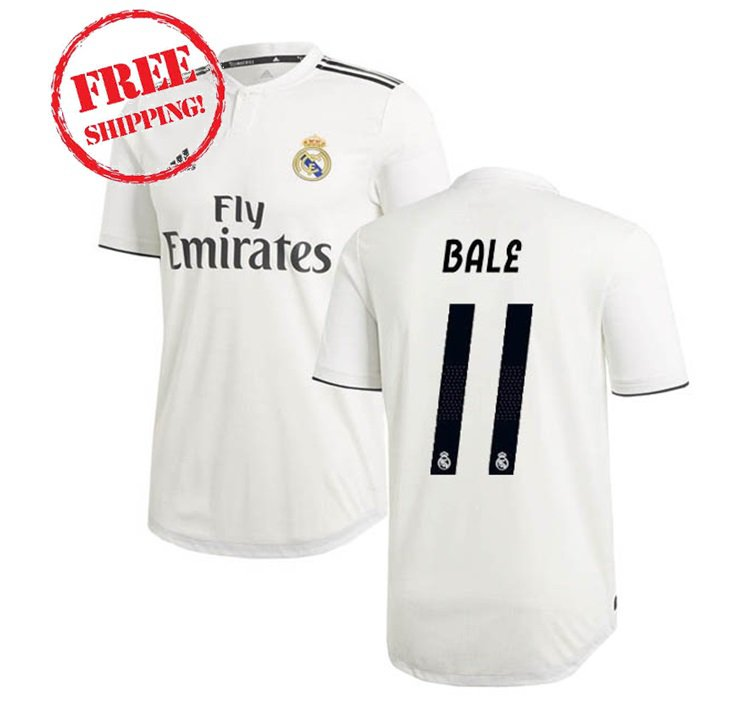 2018/19 Bale #11 Real Madrid Jersey Home Men Football ...