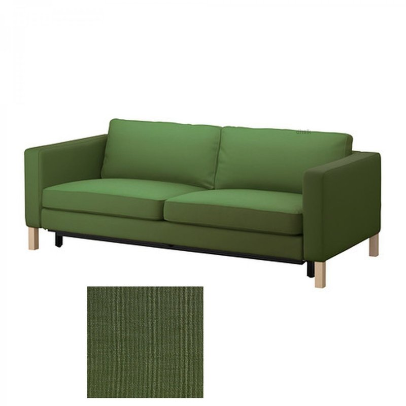 Karlstad Sofa Bed Slipcover Sofabed Cover Sivik Dark Green