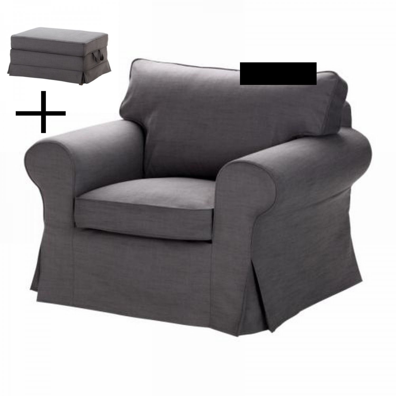IKEA EKTORP Armchair And BROMMA Footstool COVER Chair