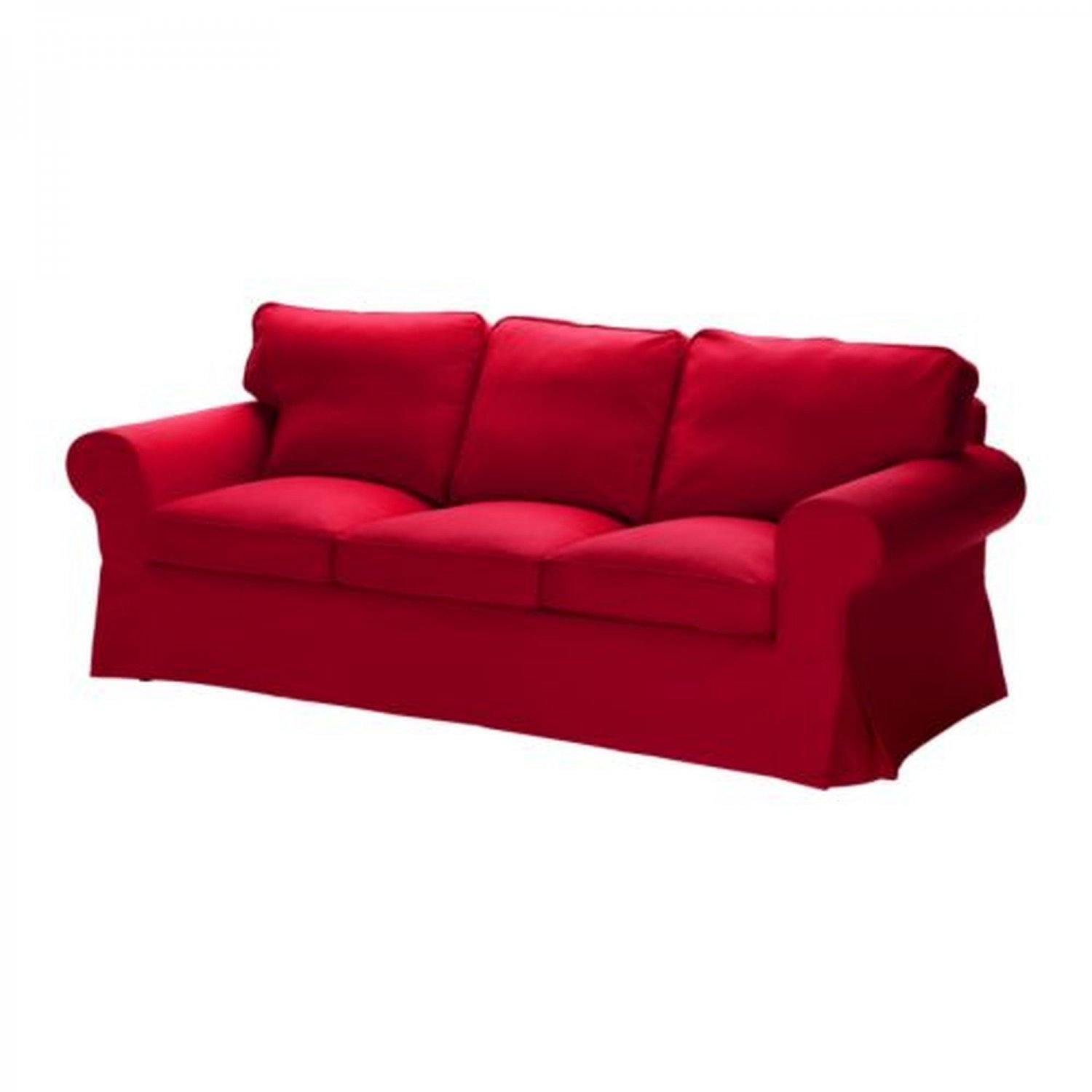 1 frame cover which attaches with velcro, one bottom seat cushion cover, 2 back. IKEA EKTORP 3 Seat Sofa SLIPCOVER Cover IDEMO RED