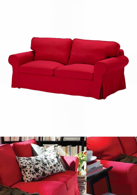 Red loveseat covers & slipcovers : IKEA EKTORP 2 Seat Loveseat Sofa COVER Slipcover IDEMO RED