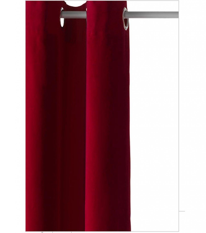 IKEA SANELA CURTAINS Drapes 2 Panels RED VELVET 98 Grommets