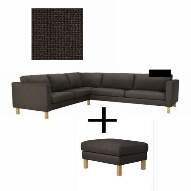 Karlstad Sofa Cover Korndal Dark Grey Www Stkittsvilla Com