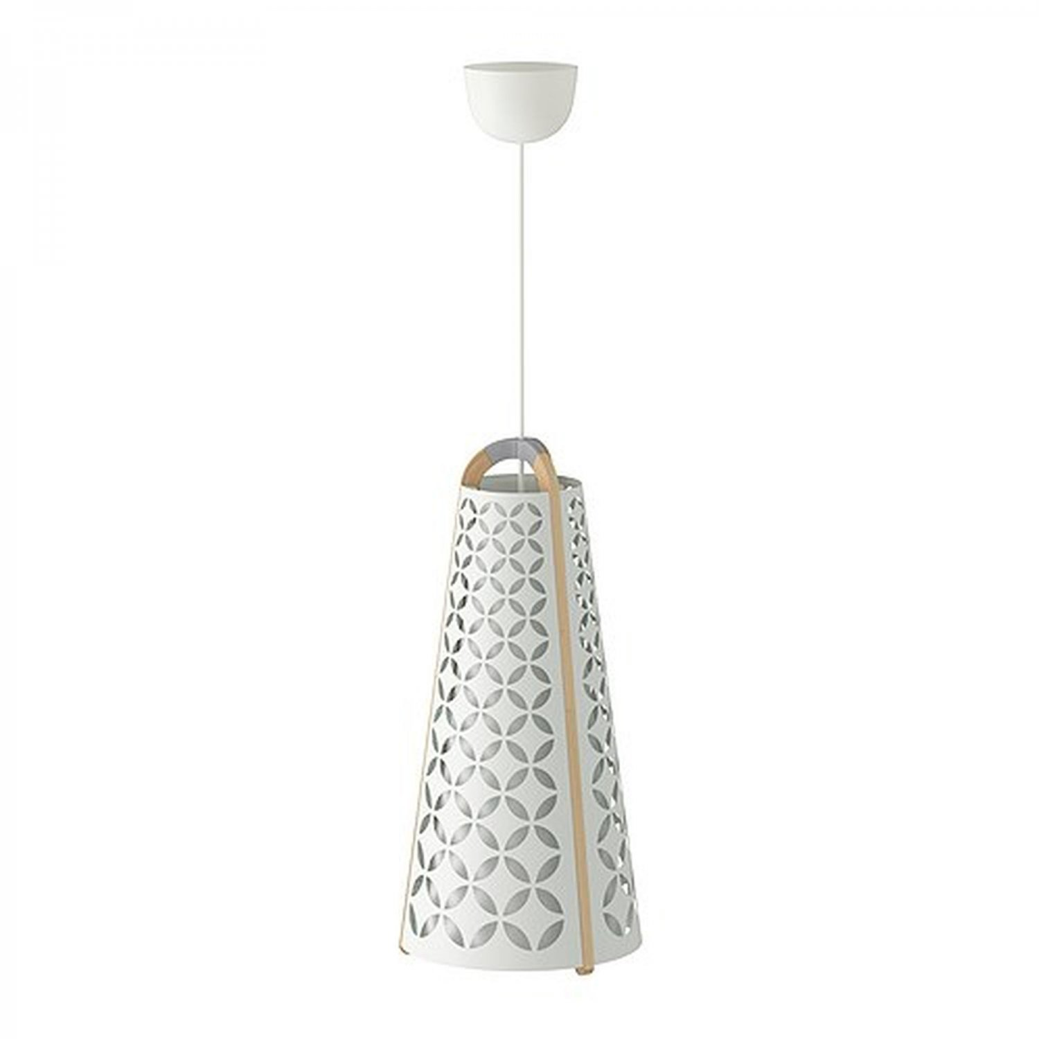Ikea Torna Pendant Lamp Ceiling Light Modern White And Birch Wood Chandelier Contemporary