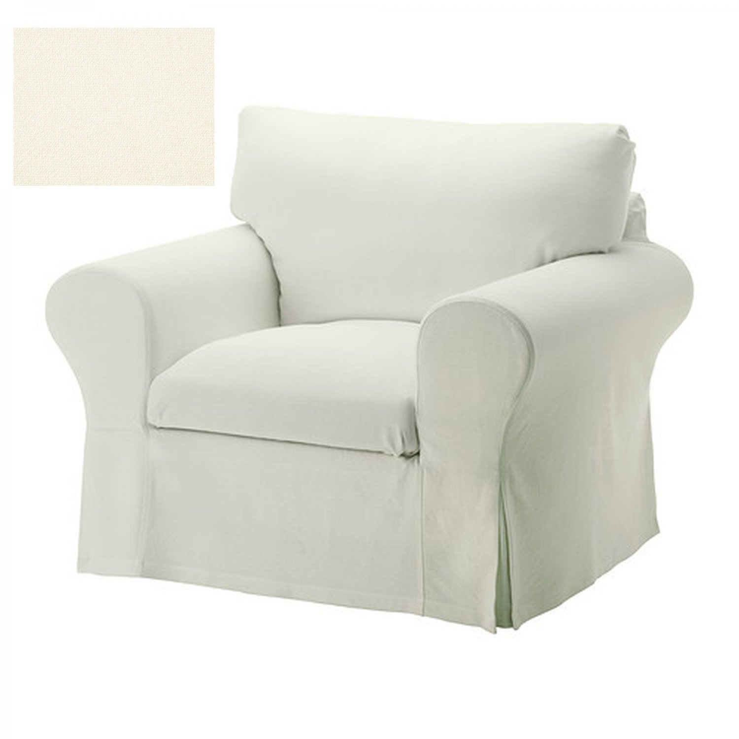 IKEA EKTORP Armchair SLIPCOVER Chair Cover STENASA WHITE