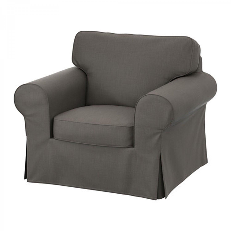 IKEA Ektorp Armchair COVER Chair Slipcover NORDVALLA GRAY Grey