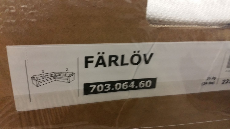 Living room, dining room, home. IKEA Farlov 5 Seat Left Sectional Sofa SLIPCOVER 3+2 ...