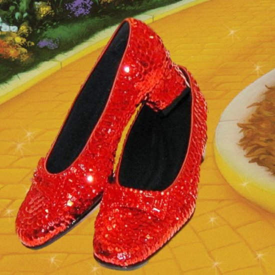 SOLD OUT Wizard of Oz Dorothy's Ruby Red Slippers Size 5 1 ...