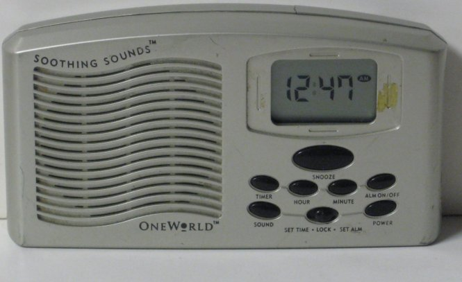 Soothing Sounds Digital Lcd Alarm Clock