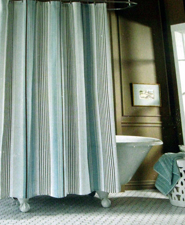 fieldcrest luxury stripe blue taupe