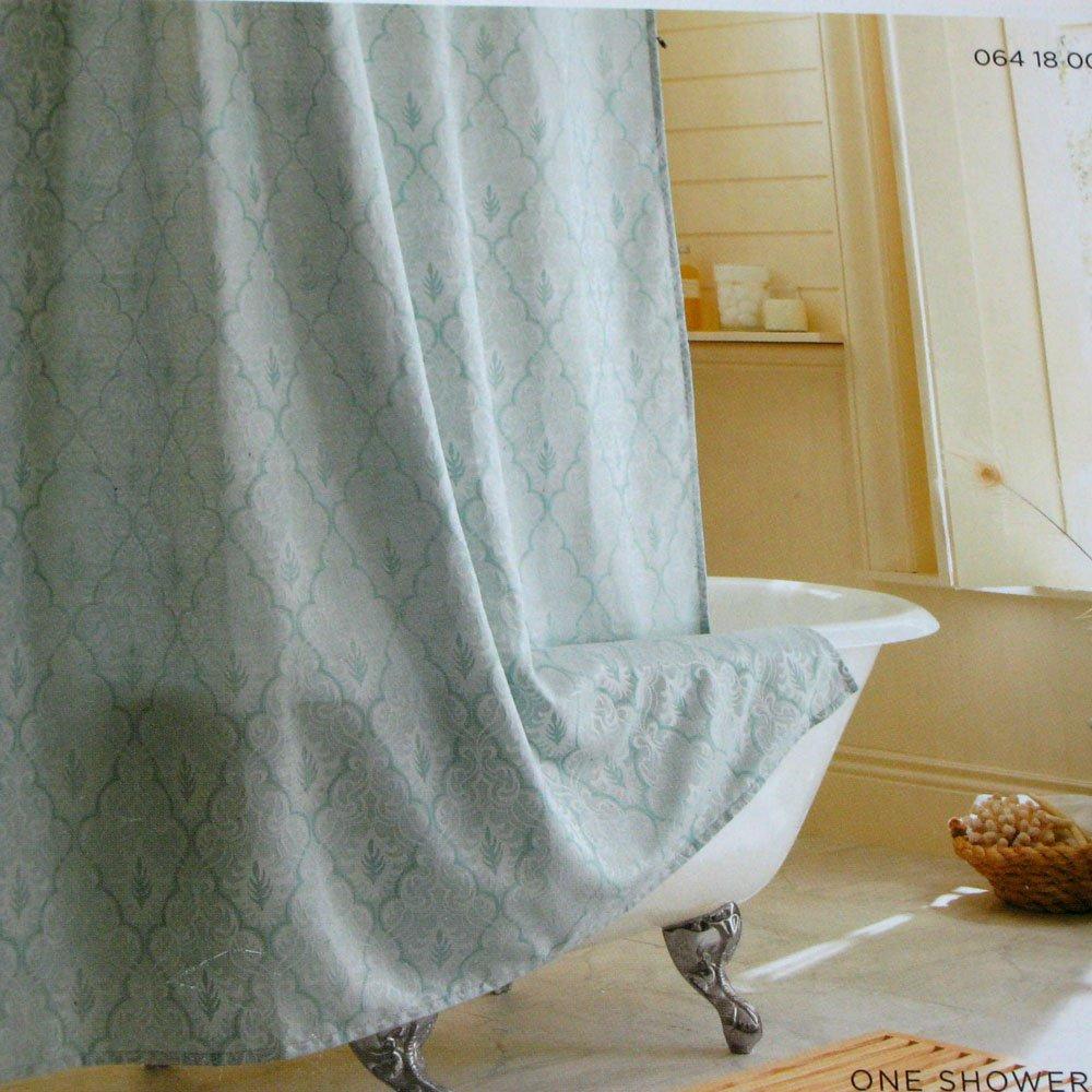 Target Home BLUE OGEE Aqua Green Fabric Shower Curtain