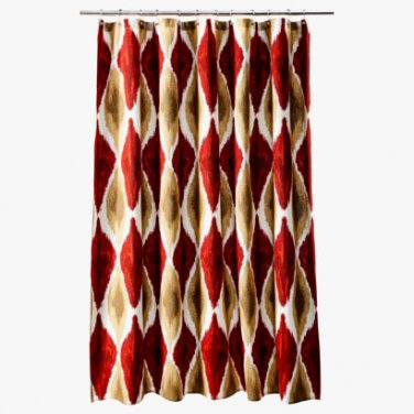 threshold large ikat red gold brown