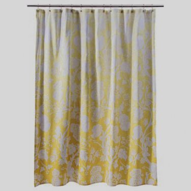 threshold yellow ombre floral fabric